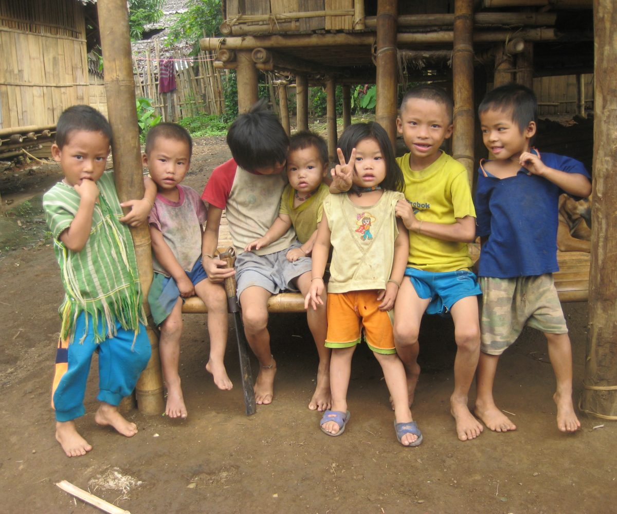 Children in Noh Poh Refugee Camp