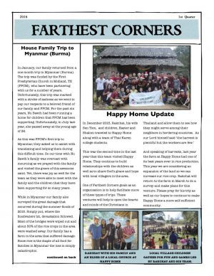 Farthest Corners Newsletter 2016-1