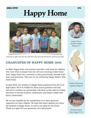 Happy Home Annual Report 2016